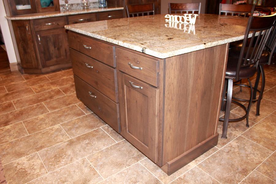Rustic Hickory medium stain island